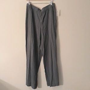 Gap Wide Leg Black / Green Pant NEW Size L